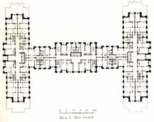 Жилой дом на Кудринской площади. План 9-12 этажей